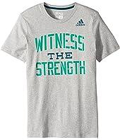 adidas Kids Witness the Strength Tee (Big Kids)