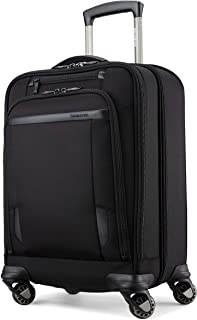 Samsonite Pro Travel Softside Expandable Luggage with Spinner Wheels, Black, Smart Carry-On 21-Inch