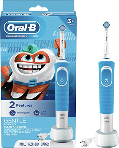 Oral-b Kids Electric Toothbrush With Sensitive Brush Head and Timer, for Kids 3+
