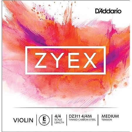 D'Addario Orchestral Zyex - Cuerda individual Mi para violín, escala 4/4, tensión media