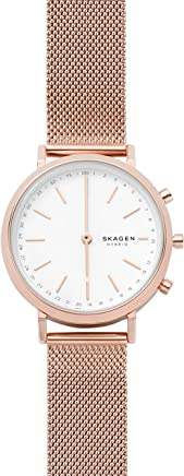 Skagen Connected Womens Mini Hald Stainless Steel Mesh Hybrid Smartwatch; Rose Gold (SKT1411)