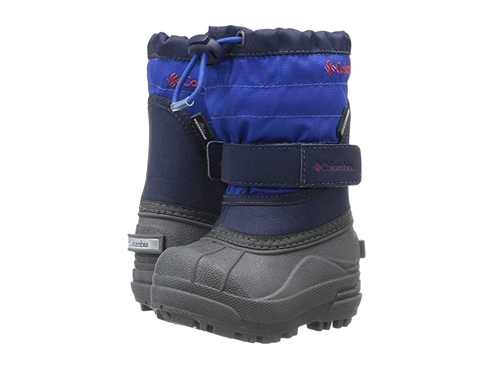 Columbia Kids Powderbugtm Plus II Boot (Toddler/Little Kid/Big Kid) (Collegiate Navy/Chili) Girls Shoes