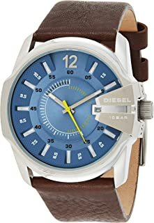 Diesel Master Chief Men's Blue Dial Leather Band Watch - DZ1399