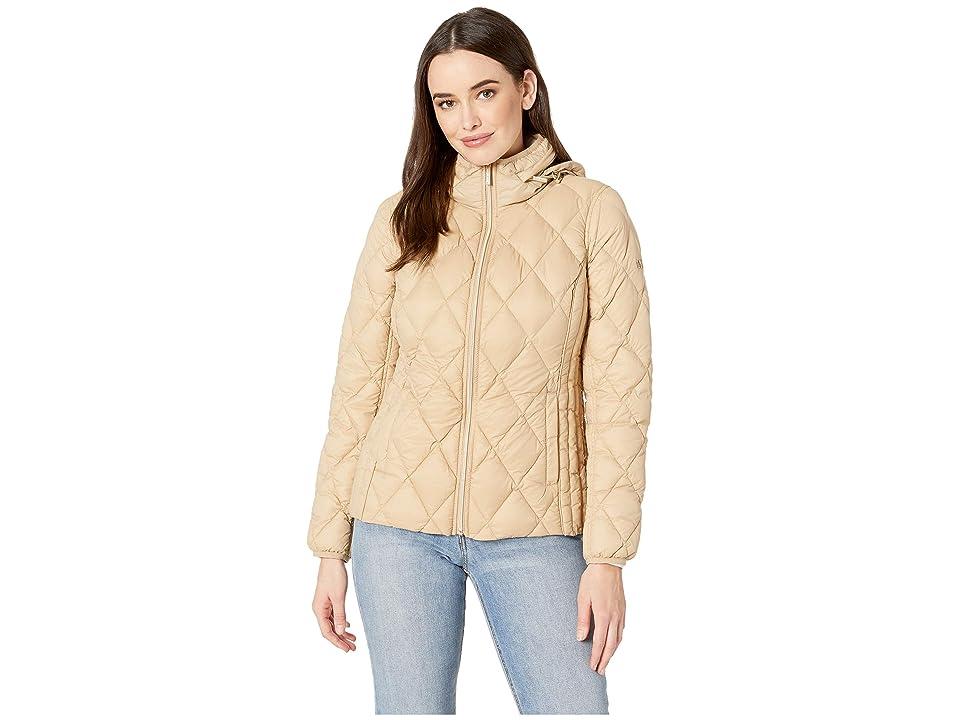 MICHAEL Michael Kors Quilted Nylon Packable Down Jacket M823965M (Khaki) Women