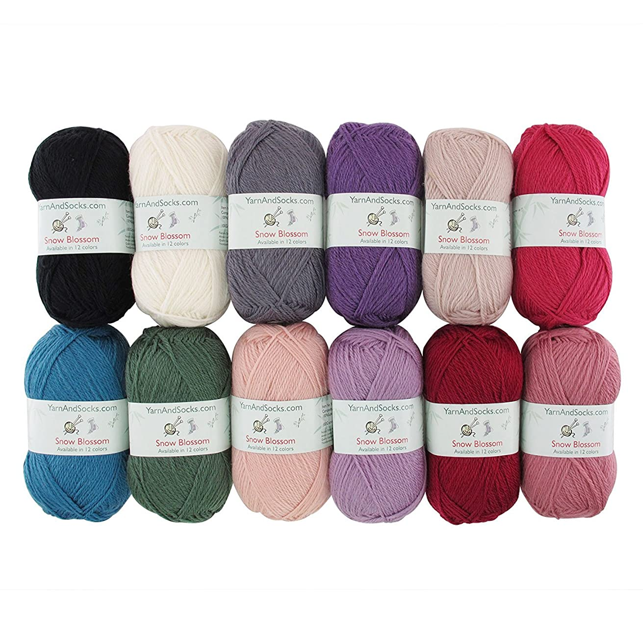 Snow Blossom - Wool Worsted Weight Yarn - 4 Skein Assorted Color Surprise Package