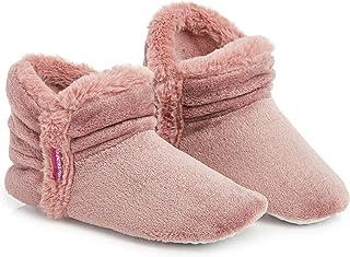 Zapatillas De Estar En Casa Altas para Mujer, Botas Pantuflas Cerradas Invierno, Interior Suave Peluche con Suela de Goma Antideslizante, Mujer
