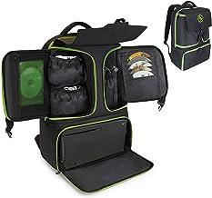 ENHANCE Mochila para console de jogos compatível com Xbox Series X, Xbox Series S – compartimentos de armazenamento para c...