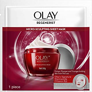 Olay Sheet Mask: Regenerist Micro-sculpting For Hydration & Youth, 1 piece