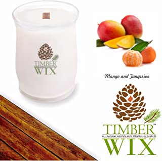 Country Jar Timber Wix Mango and Tangerine Soy Wood Wick Candle (16 oz.) 100% US Grown Premium SuperSoy (Sale!)