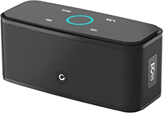 Bluetooth Speaker DOSS SoundBox, Portable Wireless Bluetooth 4.0 Touch Speakers with 12W HD Sound and Bold Bass, Handsfree, 12H Playtime for Phone,TV, Tablet, Gift Ideas[Black]