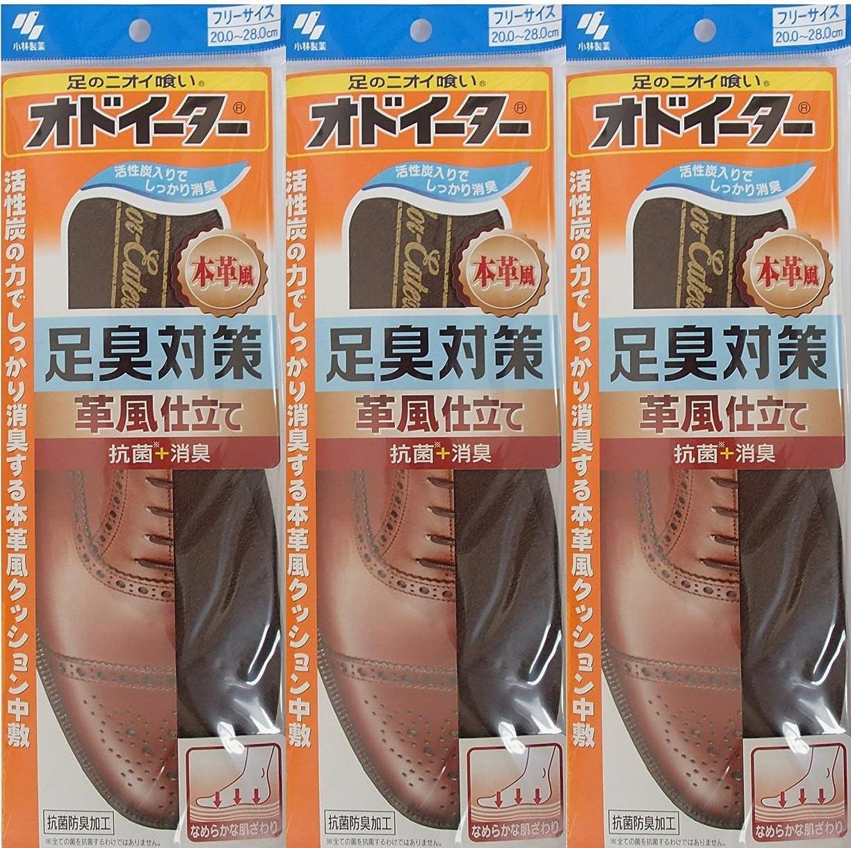 取る遺伝子年金オドイーター 足臭対策 革風仕立て インソール フリーサイズ20cm~28cm 3足セット