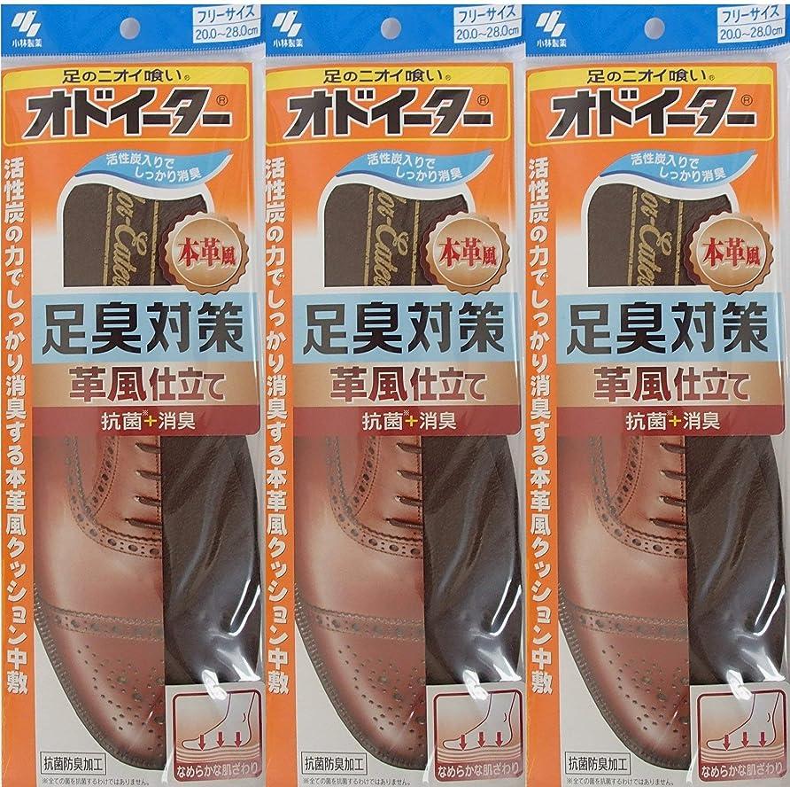 興奮するどっち遠いオドイーター 足臭対策 革風仕立て インソール フリーサイズ20cm~28cm 3足セット