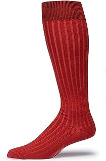 Boardroom Socks Pima Cotton Dress Socks for Men, Over-the-Calf Ribbed Dress Sock
