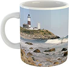 Westlake Art - Lighthouse Montauk - 11oz Coffee Cup Mug - Modern Picture Photography Artwork Home Office Birthday Gift - 11 Ounce (6AB7-FD5E5)