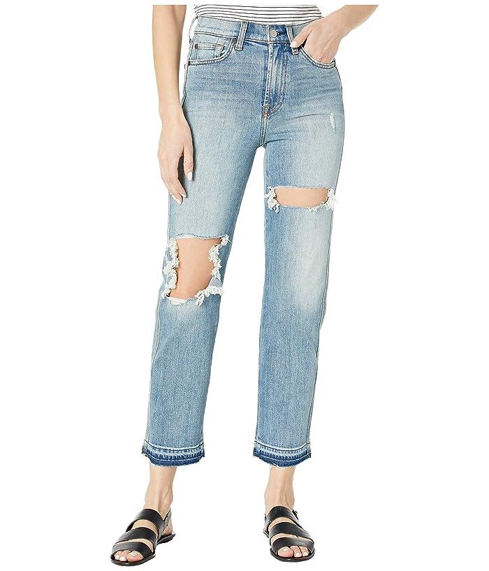 7 For All Mankind  High-Waist Cropped Straight in Topanga (Topanga) Womens Jeans
