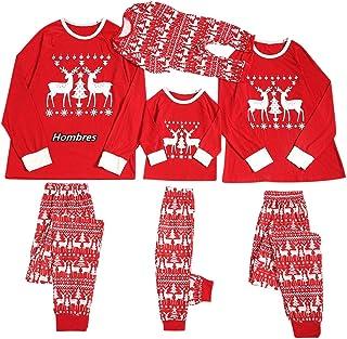 Fossen MuRope 2 Piezas árbol de Navidad Pijamas Navidad Familia Papá Mamá Niño Pijama Familiar a Juego, Pijamas Navidad Fa...