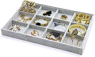 PuTwo Gioielli Organizzatore 12 Sezioni Lint cassetto Organizzatore display contenitore porta orecchini ideale e cassetti ...
