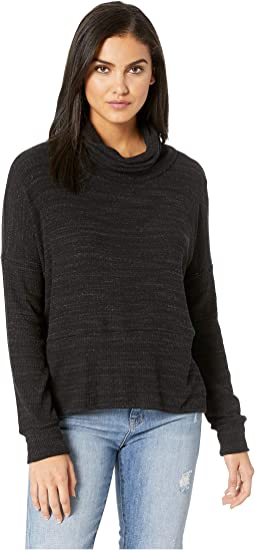 Boxy Slub Sweater Turtleneck