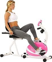 Sunny Health & Fitness P8400 Sunny Health & Fitness Magnetic Recumbent Bike Exe, Pink