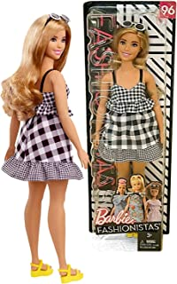 FAS Year 2017 Fashionista Series 12 Inch Doll Set #96 - Curvy Hispanic Model in Check Me Out Checker Dress with Sunglasses