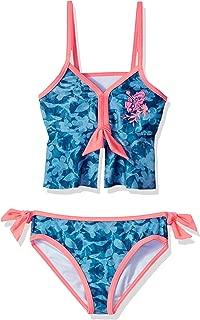 Girls Denim Print Tankini Swimsuit Set