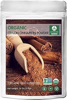 Premium Quality Organic Ceylon Cinnamon Powder (1lb) by Naturevibe Botanicals, Raw, Gluten-Free & Non-GMO (16 ounces)