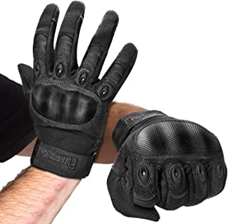 FREETOO Knuckle Tactical Gloves for Men Military Gloves for Shooting Airsoft Paintball..