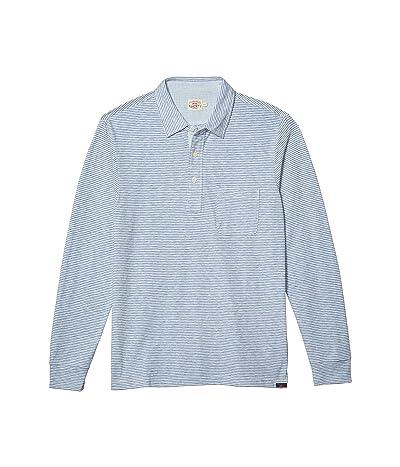 Faherty Long Sleeve Polo (Madaket Stripe) Men