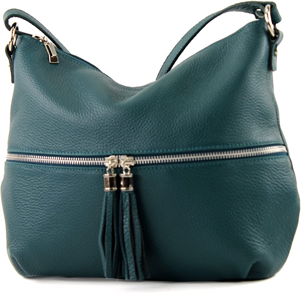 Modamoda de, borsa da donna a tracolla, in vera pelle T159PEGN