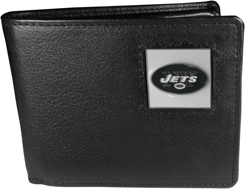 Siskiyou Sports NFL York Jets Leather BiFold Wallet (FBI100)