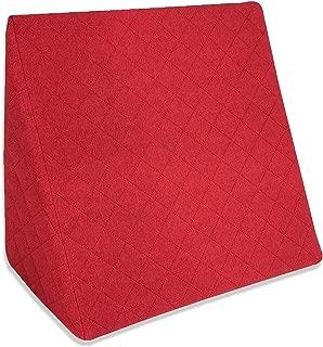 La Almohada Tipo Cuña increíble - Para Su Sala De Estar o Su Recamara, Almohada Para Leer Con Un Sentado Relajado. Disponible en 5 Colores Con Un Diseño De Moda (Rojo)