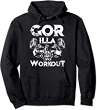 Gorilla Workout Gym Bodybuilding Quote Muscles Weights Gift Pullover Hoodie