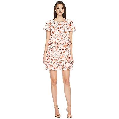 Badgley Mischka Floral Print Runway Dress (Red Multi) Women