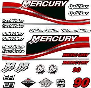 AMR Racing Outboard Engine Motor Sticker Decal Graphics kit for Mercury 90 - Red