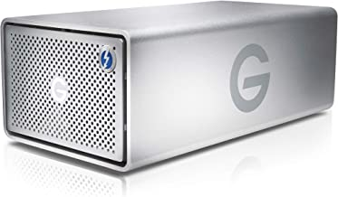 G-Technology 36TB G-RAID with Thunderbolt 3, USB-C (USB 3.1 Gen 2), and HDMI, Removable Dual Drive Storage System, Silver ...