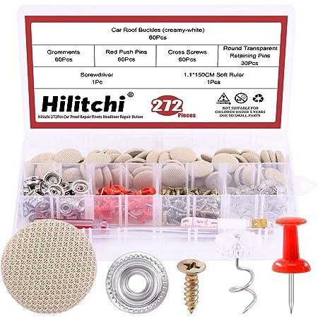 60 Pcs//kit Headliner Repair Round Pins Kit For Interior Upholster Car Truck Auto