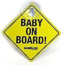 15 x 14 cm Motivo: Baby On Board personalisedstore.co.uk Adesivo in Vinile per Auto Colore: Bianco