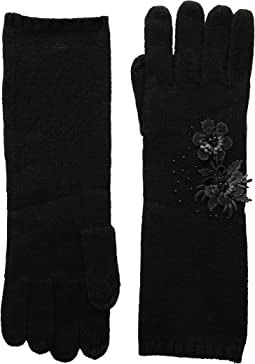 Touch Gloves with Floral Cluster