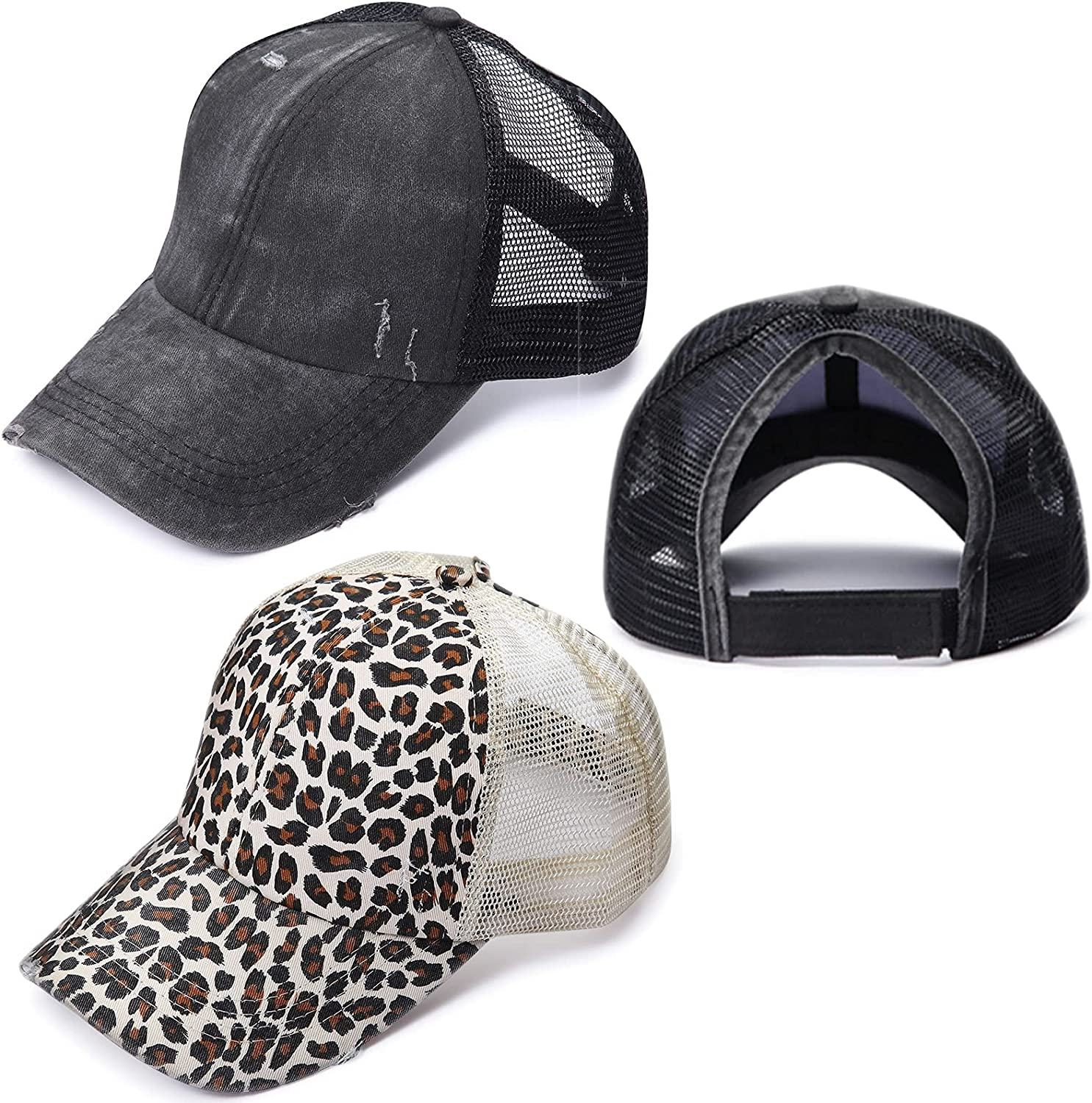 2 Pack Ponytail Baseball Hats Special price for Women Cross Bun Messy Ha Criss Outlet SALE
