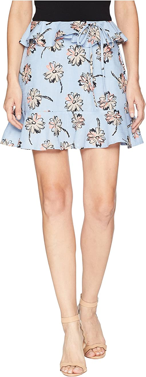 Sky/Taupe Floral