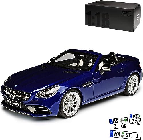 GT Spirit Mercedes-Benz SLC R172 43 Cabrio Blau SLK Ab Facelift 2016 1 18 Modell Auto mit individiuellem Wunschkennzeichen