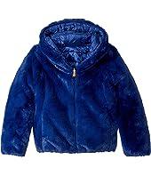 Short Hooded Reversible Faux Fur Jacket (Little Kid/Big Kid)