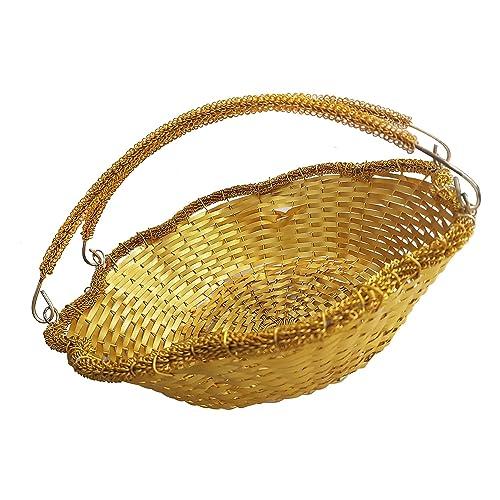 Kabello Plastic Royal Basket (Multicolour) - Set of 1