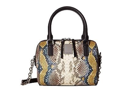 Calvin Klein Tonya Python Mini Satchel (Multi) Satchel Handbags