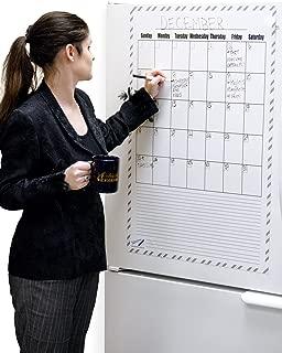 Giant Dry Erase Calendar Magnet - 36 x 24 inch Big Magnetic Dry Erase Board Calendar - Monthly Magnetic Calendar Office Products - Magnet Calendar for Fridge