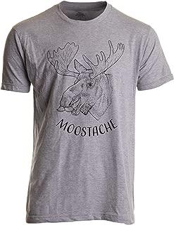 Moostache | Dad Joke Funny Stupid Animal Moose Humor Pun Mustache Men T-Shirt