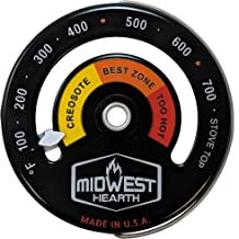 Midwest Hearth Wood Stove Thermometer – Magnetic Stove Top Meter
