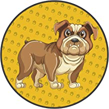 Printed Carpet,Dog Mat,pet Pad,Round Circular Area Rugs Solid Carpets Home Cozy Mat Bedroom Luxurious Floor Pads for Livin...