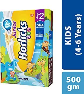 Junior Horlicks Stage 2 (4-6 years) Health and Nutrition drink - 500 g Refill pack (Original flavor)