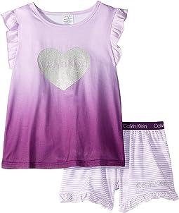 CK Lilac/CK Lilac Mini Stripe